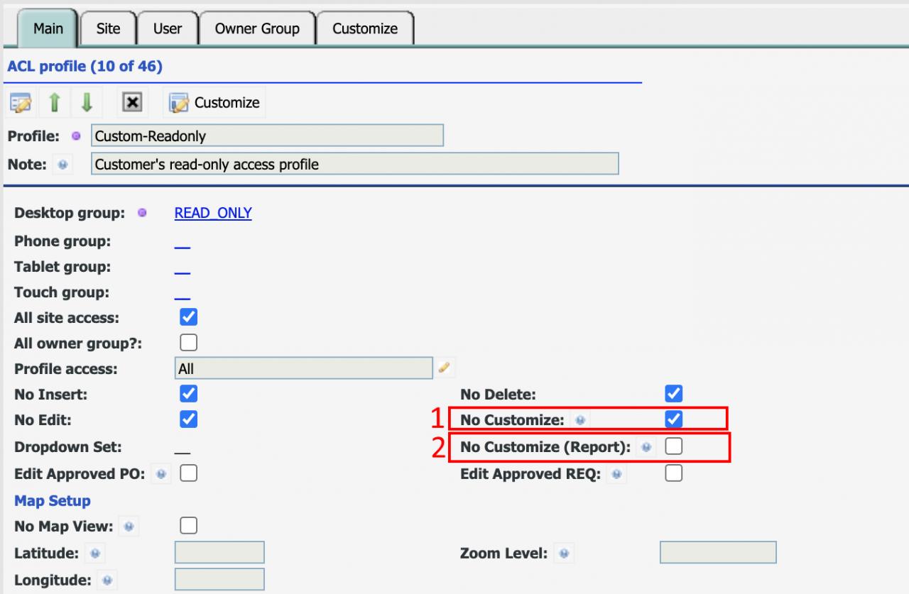 Screen vs Report Customization