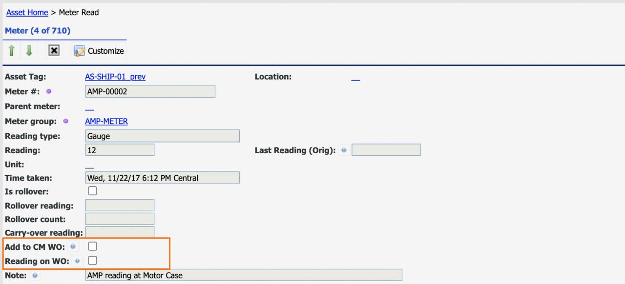 How to Mandate Meter Readings from Work Orders