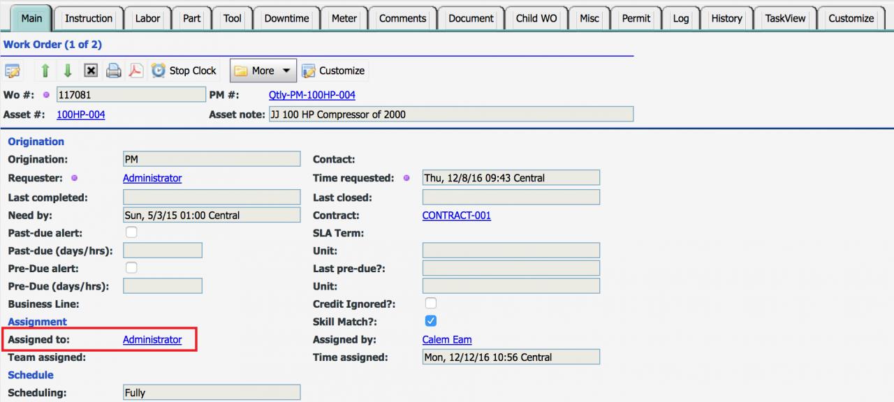 Part III: Work Order Status Control