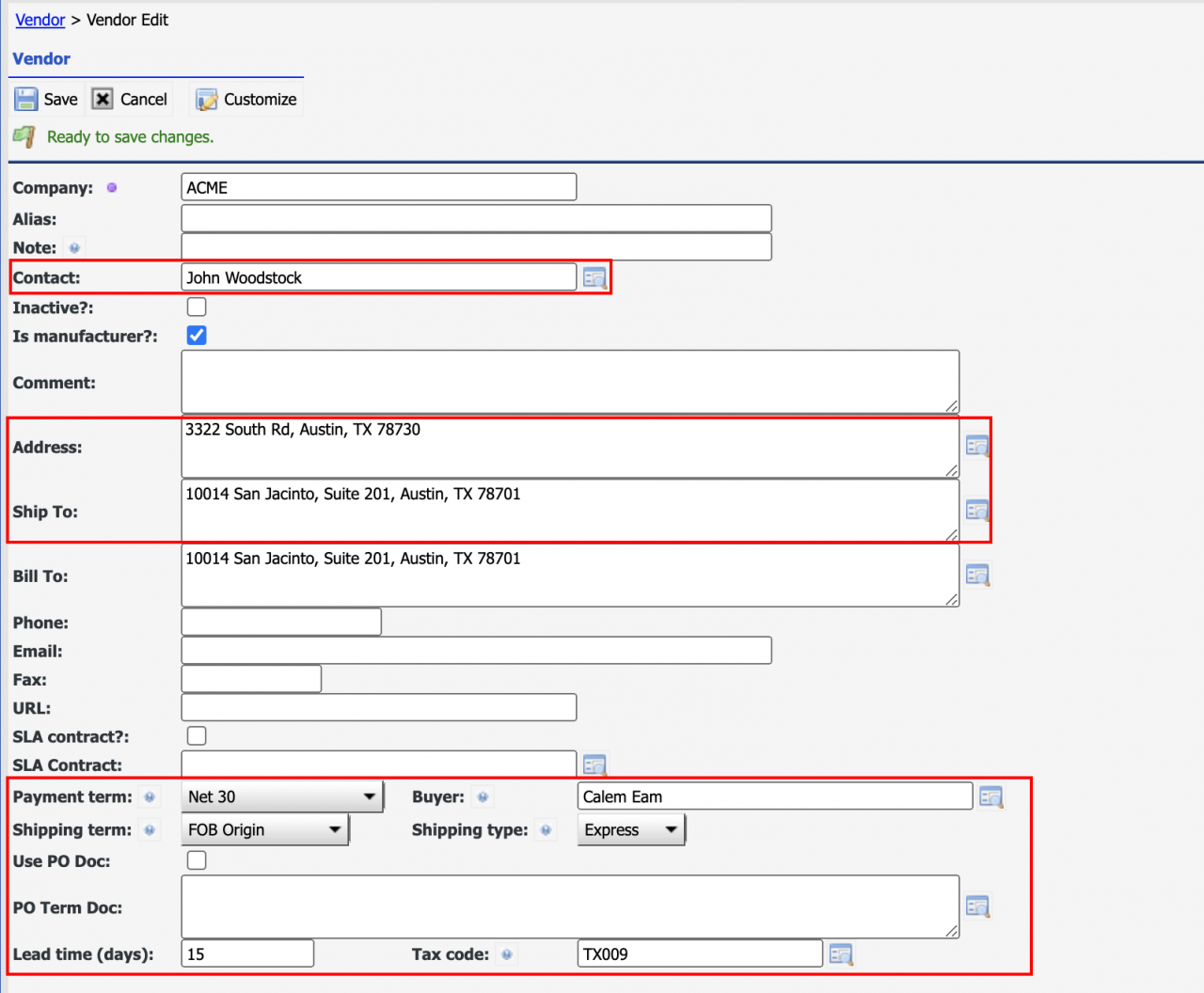How to Set up Vendor Defaults for Purchase Orders (POs)