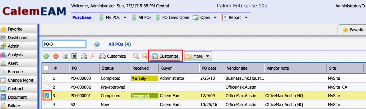 Purchase Order Print Customization Part I